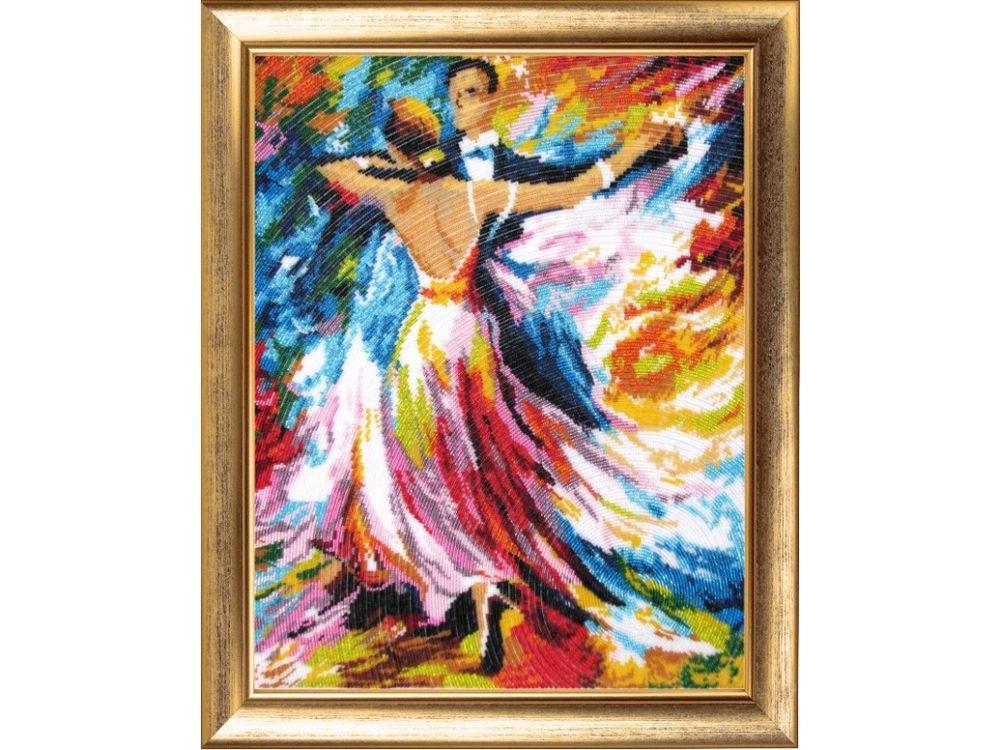 Купить Вышивка бисером, Набор для вышивания бисером «Вальс», Butterfly, 47x37 см, 471