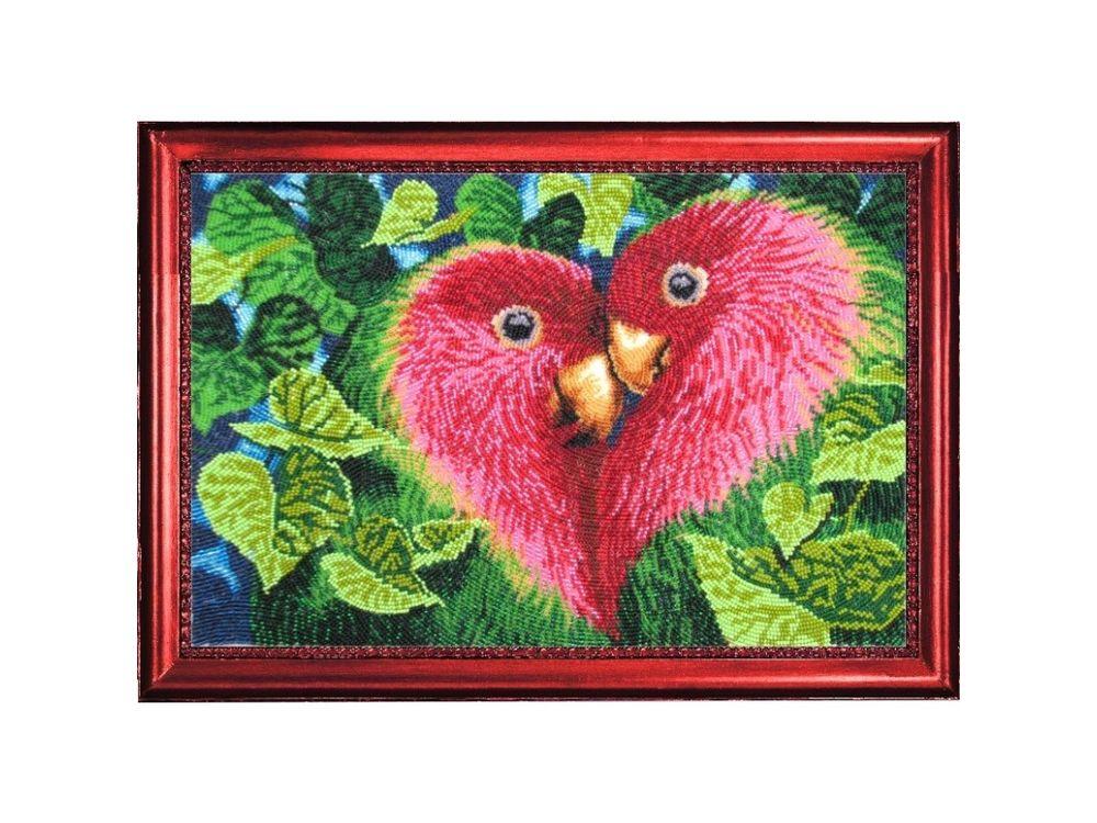 Купить Вышивка бисером, Набор для вышивания бисером «Неразлучники», Butterfly, 25x37 см, 529