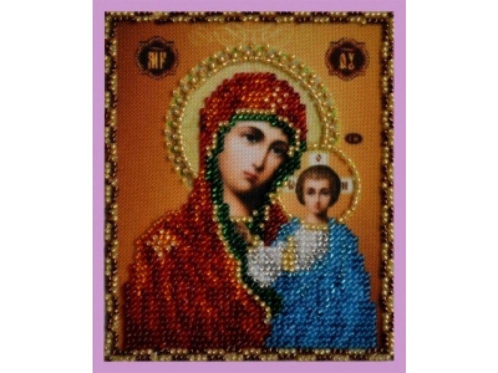 Набор для вышивания бисером Миниатюрная «Казанская Икона Божией Матери» фото