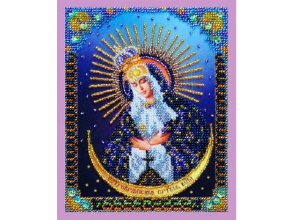 Набор для вышивания бисером Миниатюрная «Остробрамская икона Божией Матери» фото