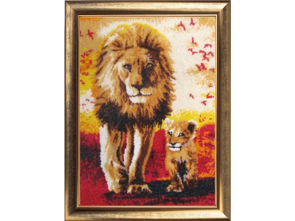 Купить Вышивка бисером, Набор для вышивания бисером «Папа и сын», Butterfly, 35x25 см, 638