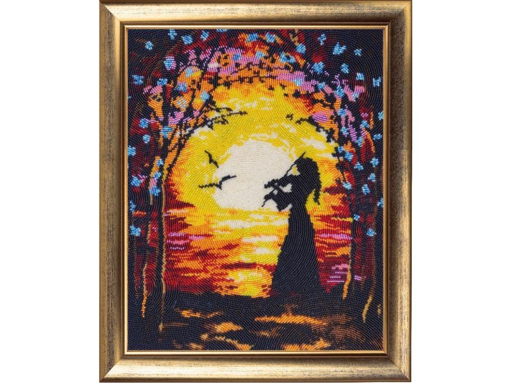 Купить Вышивка бисером, Набор для вышивания бисером «Скрипачка», Butterfly, 34x27 см, 808