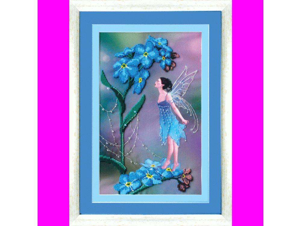 Купить Вышивка бисером, Набор для вышивки бисером «Фея незабудок», Чарівна Мить, 21, 5x33 см, Б-581
