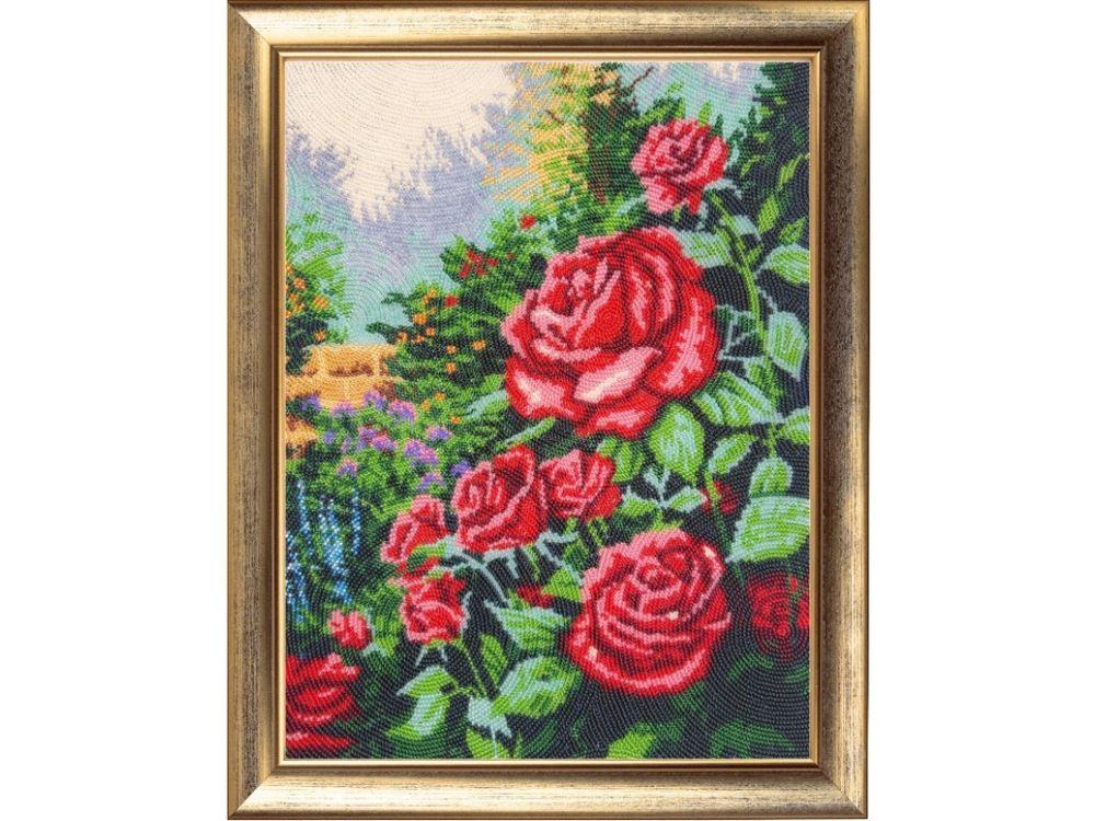 Купить Вышивка бисером, Набор для вышивания бисером «Розовый сад», Butterfly, 34x26 см, 154