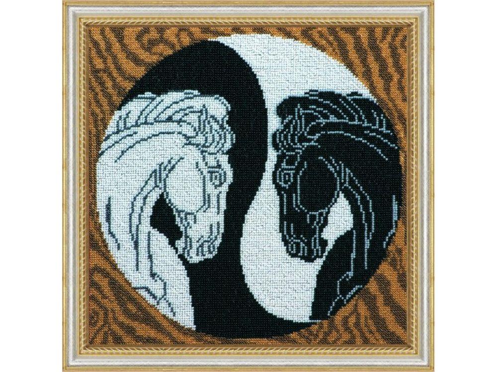 Купить Вышивка бисером, Набор вышивки бисером «Инь и Янь», Абрис Арт, 30, 5x30, 5 см, AB-124