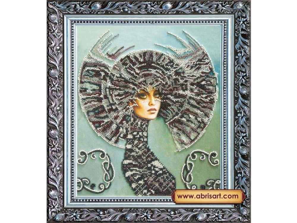 Купить Вышивка бисером, Набор вышивки бисером «Селена», Абрис Арт, 26x30 см, AB-164
