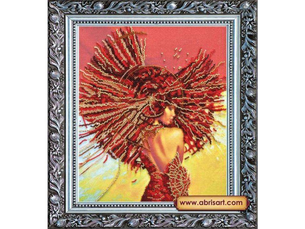 Купить Вышивка бисером, Набор вышивки бисером «Вивьен», Абрис Арт, 26x30 см, AB-166