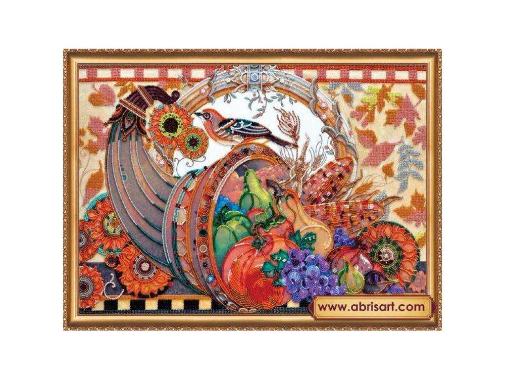 Купить Вышивка бисером, Набор вышивки бисером «Рог изобилия», Абрис Арт, 50x35 см, AB-394