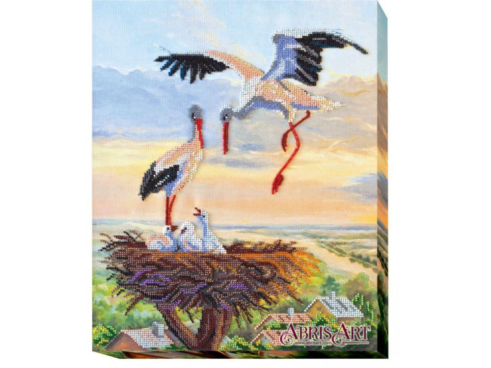 Купить Вышивка бисером, Набор вышивки бисером «Семья», Абрис Арт, 32x38 см, AB-416
