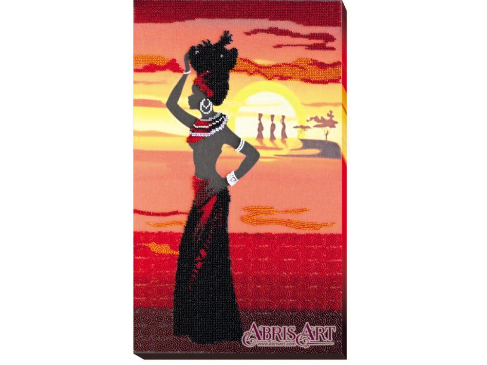 Купить Вышивка бисером, Набор вышивки бисером «Африка-2», Абрис Арт, 27x45 см, AB-467