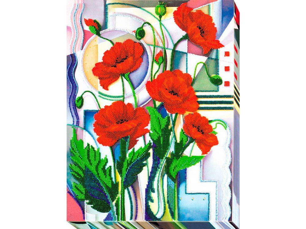 Купить Вышивка бисером, Набор вышивки бисером «Цветы Морфея», Абрис Арт, 30x40 см, AB-529