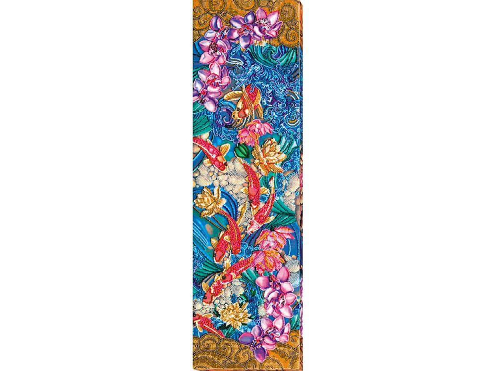 Купить Вышивка бисером, Набор вышивки бисером «Карпы кои», Абрис Арт, 19x65 см, AB-616