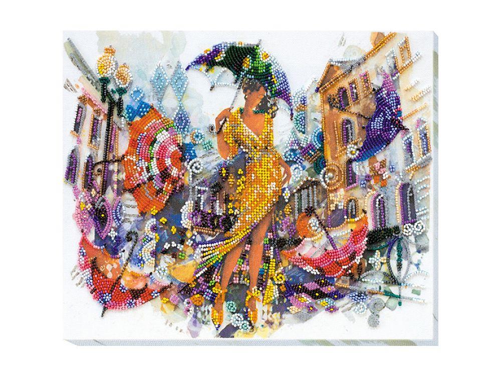 Купить Вышивка бисером, Набор вышивки бисером «Кружит», Абрис Арт, 30x25 см, AB-620