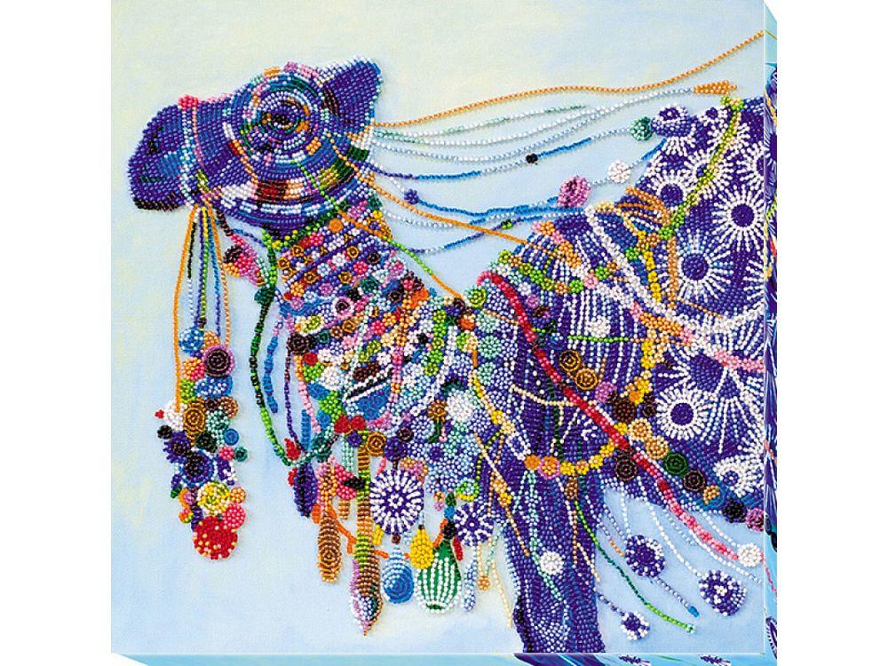 Купить Вышивка бисером, Набор вышивки бисером «Верблюд», Абрис Арт, 31x31 см, AB-621