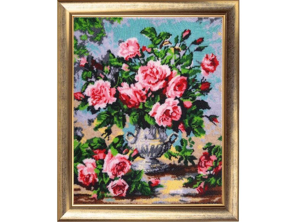 Купить Вышивка бисером, Набор для вышивания бисером «Аромат роз», Butterfly, 33x27 см, 168