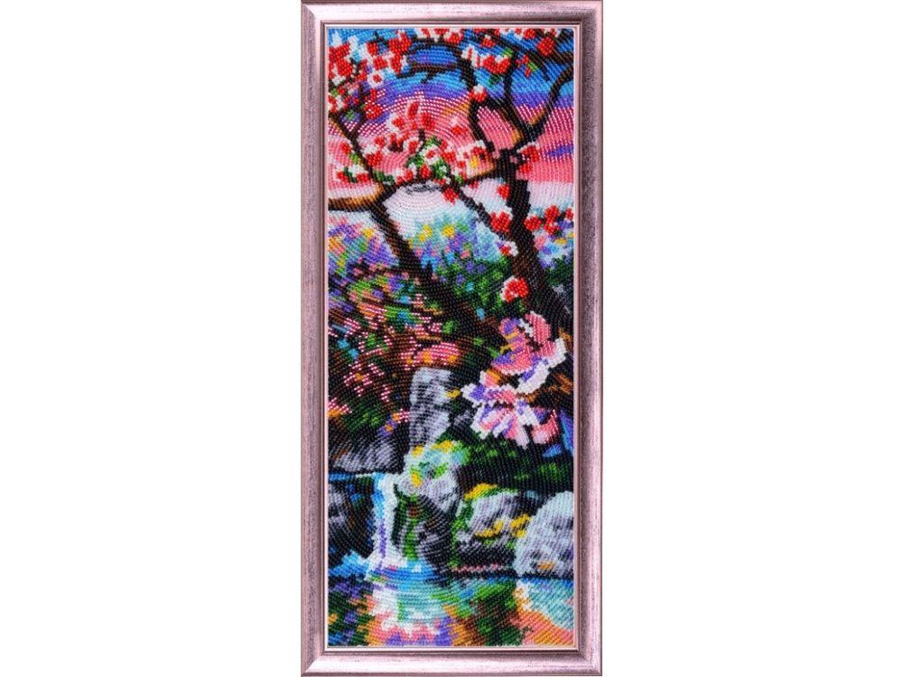 Купить Вышивка бисером, Набор для вышивания бисером «Фудзияма ч.3», Butterfly, 34x13 см, 387