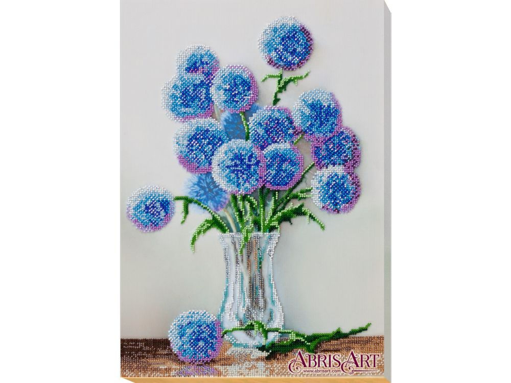 Вышивка бисером Набор вышивки бисером на холсте «Голубые шарики» Абрис Арт фото