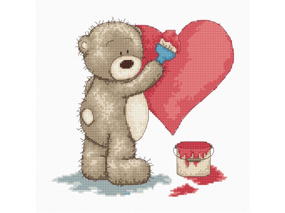 Набор для вышивания «Медвежонок Бруно» фото