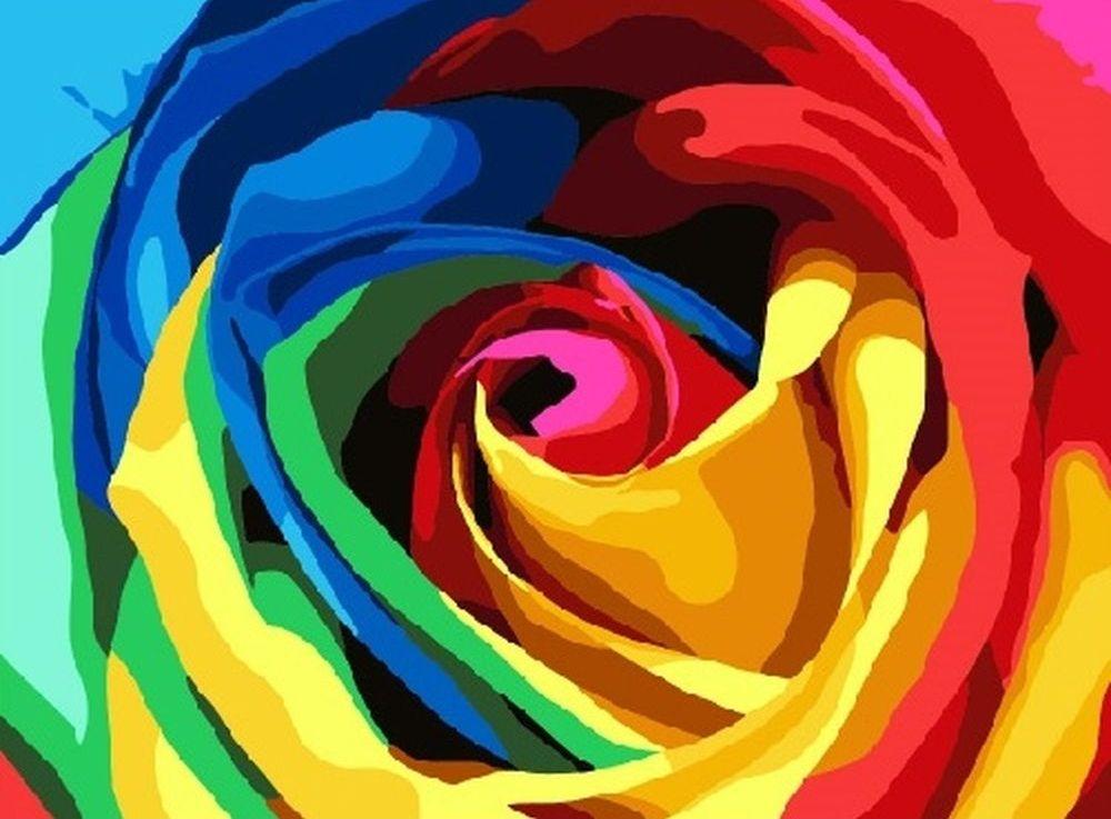 Картина по номерам «Радужный цветок», Paintboy (Premium), M-0116  - купить со скидкой