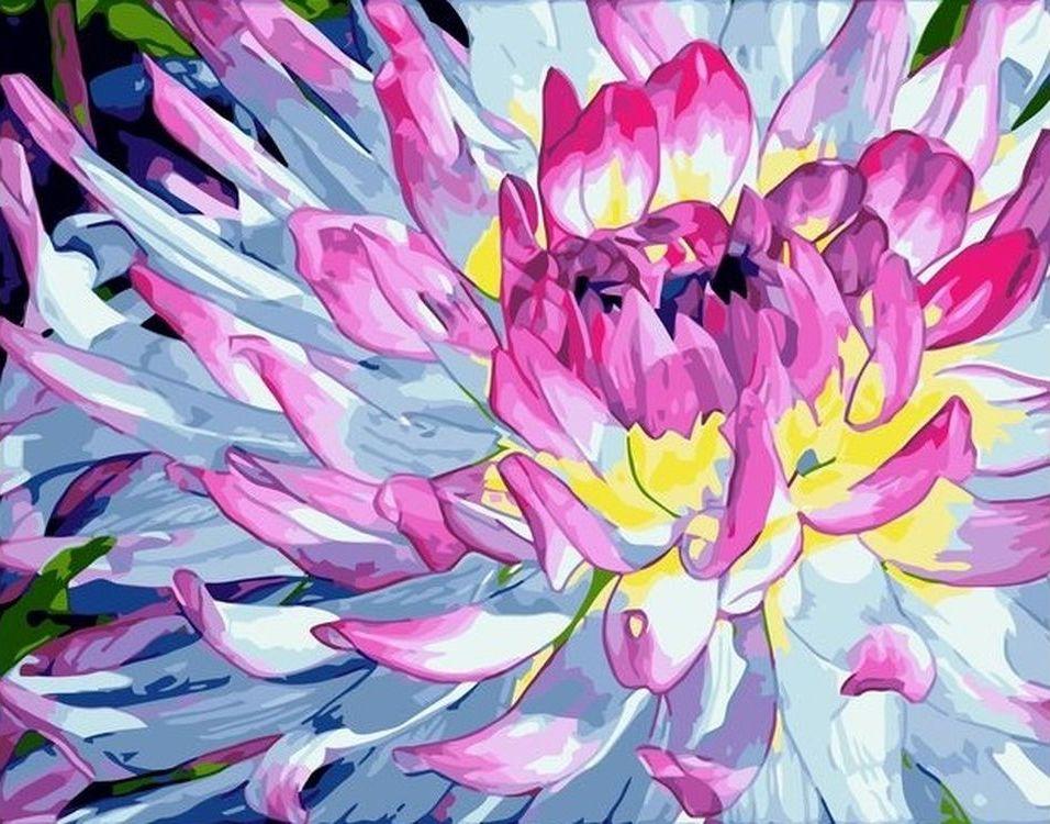 Купить Картина по номерам «Розовый цветок», Paintboy (Premium), VA-0651