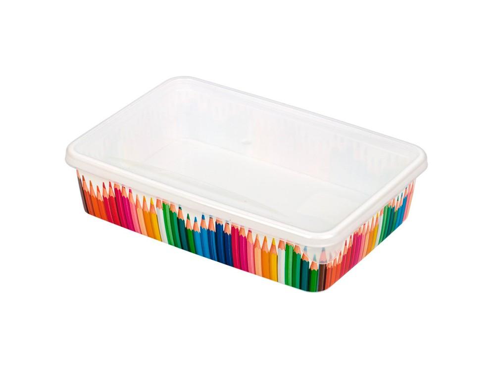 Лоток для мелочей малый Карандашница с крышкой Plastic Republic, цвет: белый фото