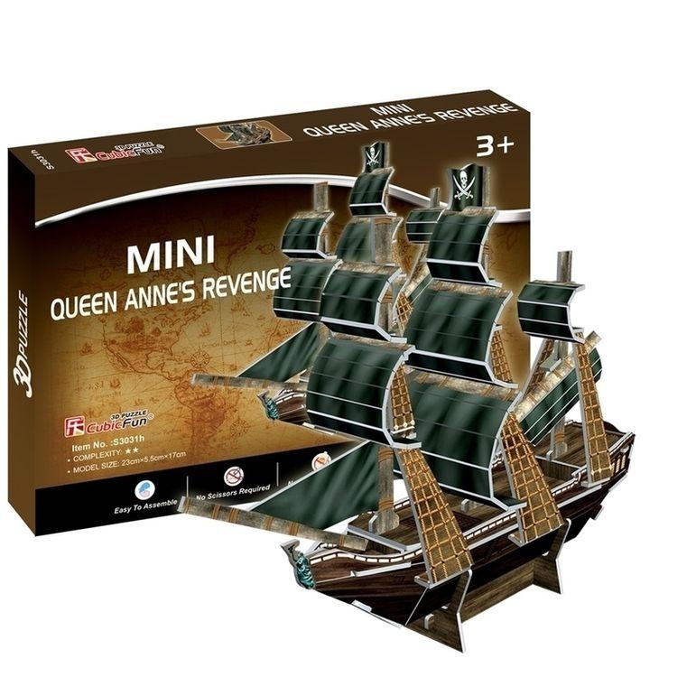 3D-пазл CubicFun Корабль «Месть королевы Анны» (серия Мини) фото