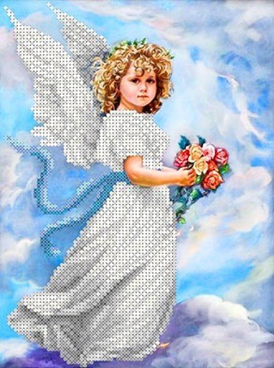 Рисунок на ткани «Ангел в облаках» Каролинка фото