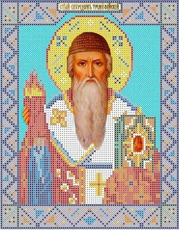 Рисунок на ткани «Святой Спиридон Тримифунтский» фото