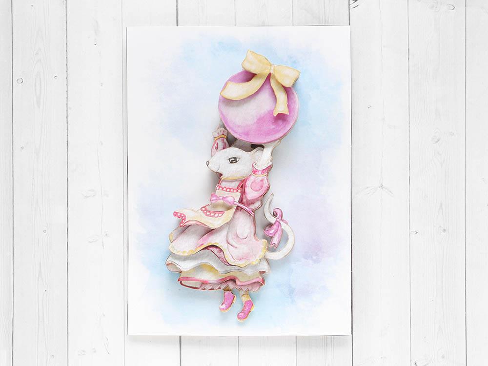 Папертоль «Мышка с шаром» фото