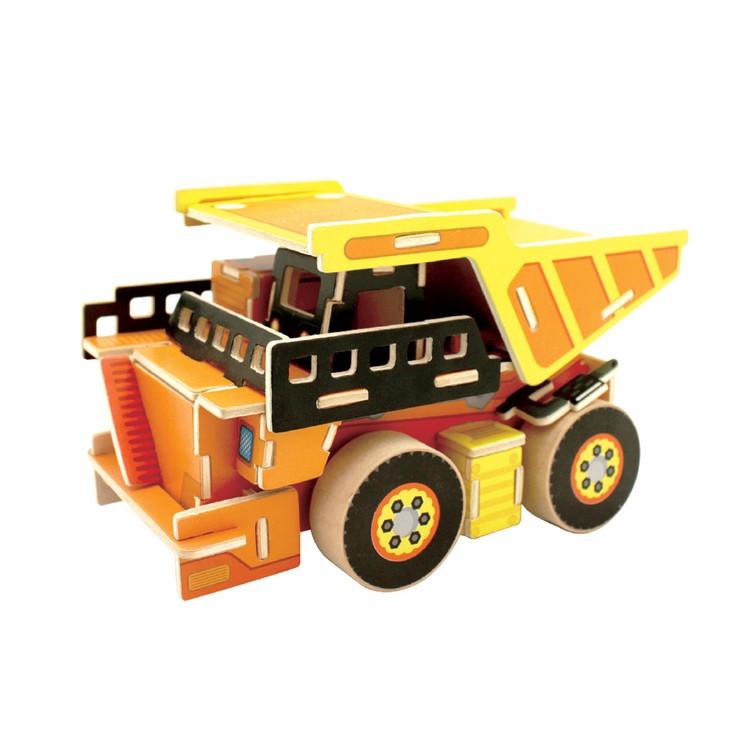 3D-пазл Самосвал, серия «Дорожно-строительная техника», 54 элемента, REZARK фото