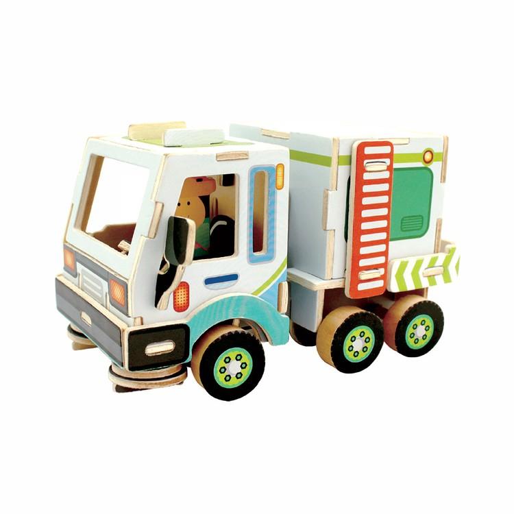 3D-пазл Уборочная машина, серия «Дорожно-строительная техника», 48 элементов, REZARK фото
