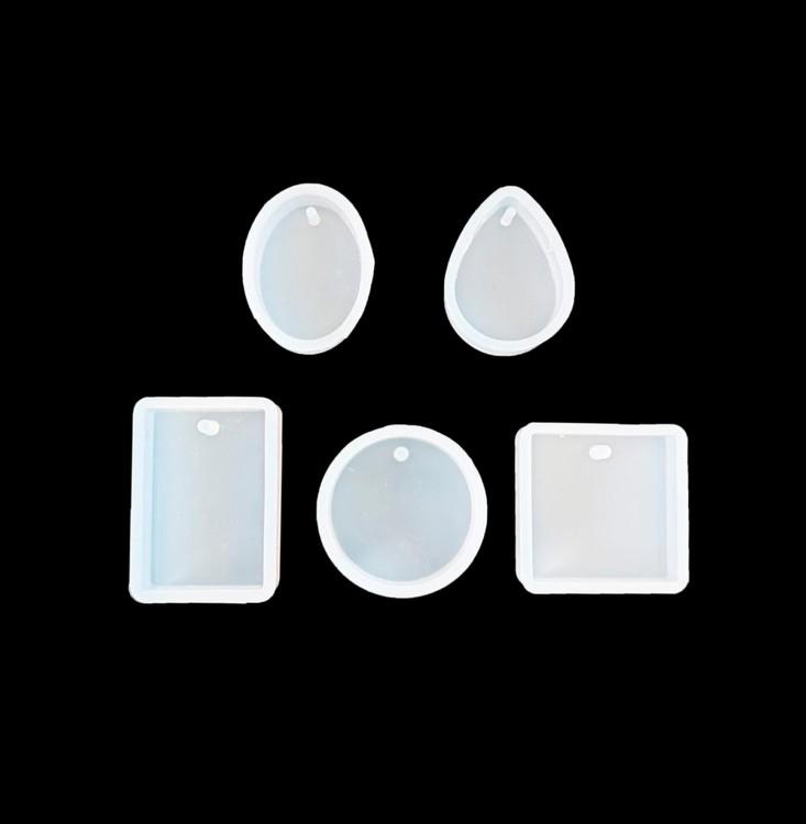 Набор из 5 силиконовых форм для создания медальонов, Resin Pro фото