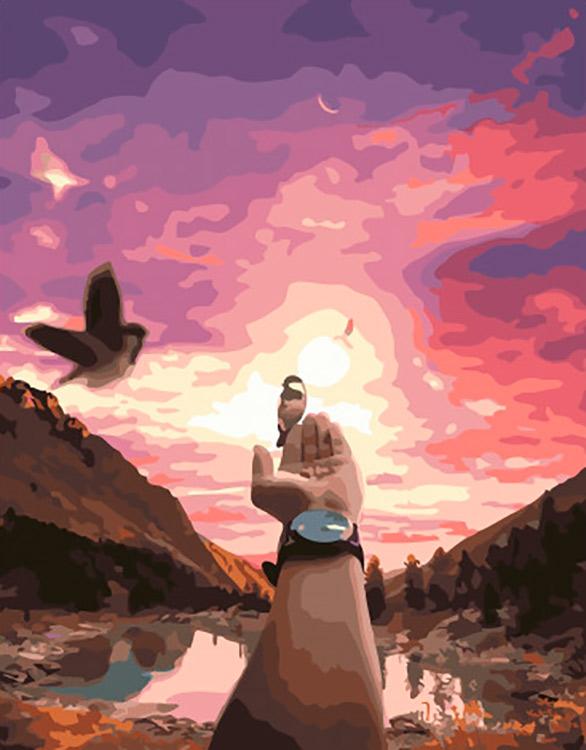 Картина по номерам «Гармония с природой» Paintboy (Premium) фото