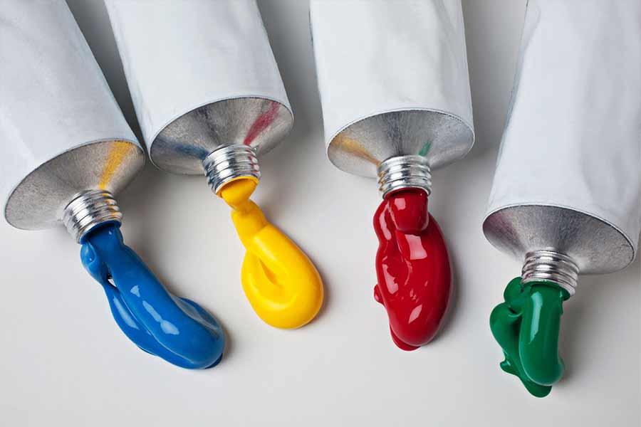 На фото изображено - Рисование акриловыми красками: полезные советы, рис. Виды красок