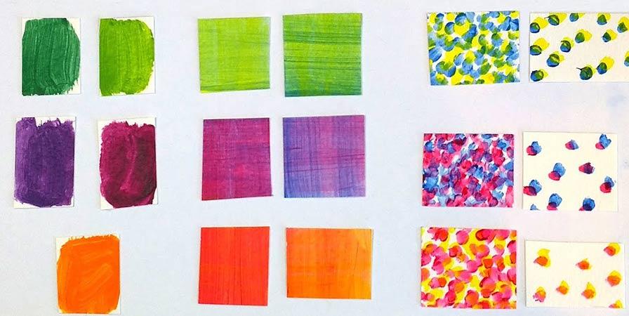 На фото изображено - Рисование акриловыми красками: полезные советы, рис. Способы смешивания акриловых красок