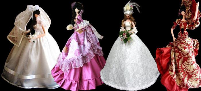 На фото изображено - Необычное увлечение: шитье кукол, рис. Тряпичные барби