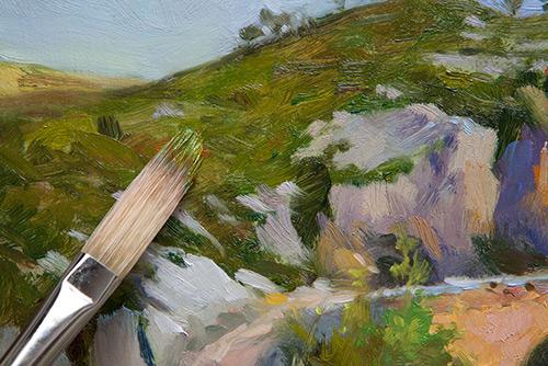 На фото изображено - Рисование масляными красками для начинающих, рис. Нанесение краски