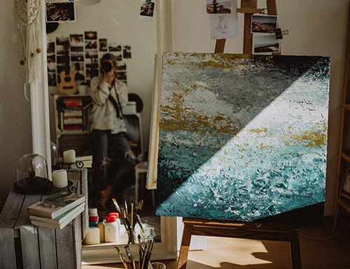 На фото изображено - Рисование масляными красками для начинающих, рис. Хранение картины