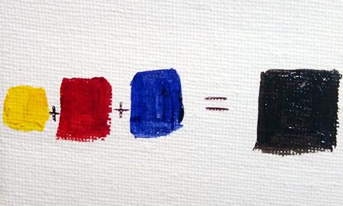 На фото изображено - Рисование масляными красками для начинающих, рис. Смешивание красок