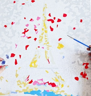 На фото изображено - Картины по номерам — советы, методы и хитрости раскрашивания, рис. Пример