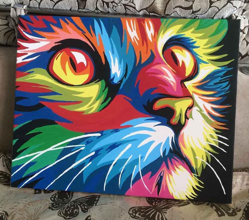 Радужный кот картинка
