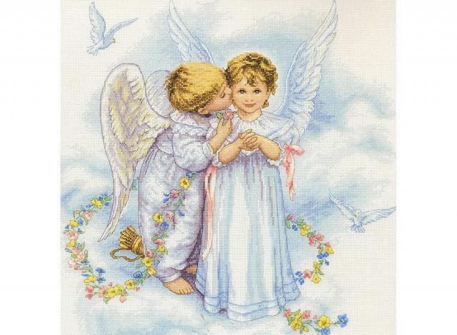 Вышивка поцелуй ангелов 9