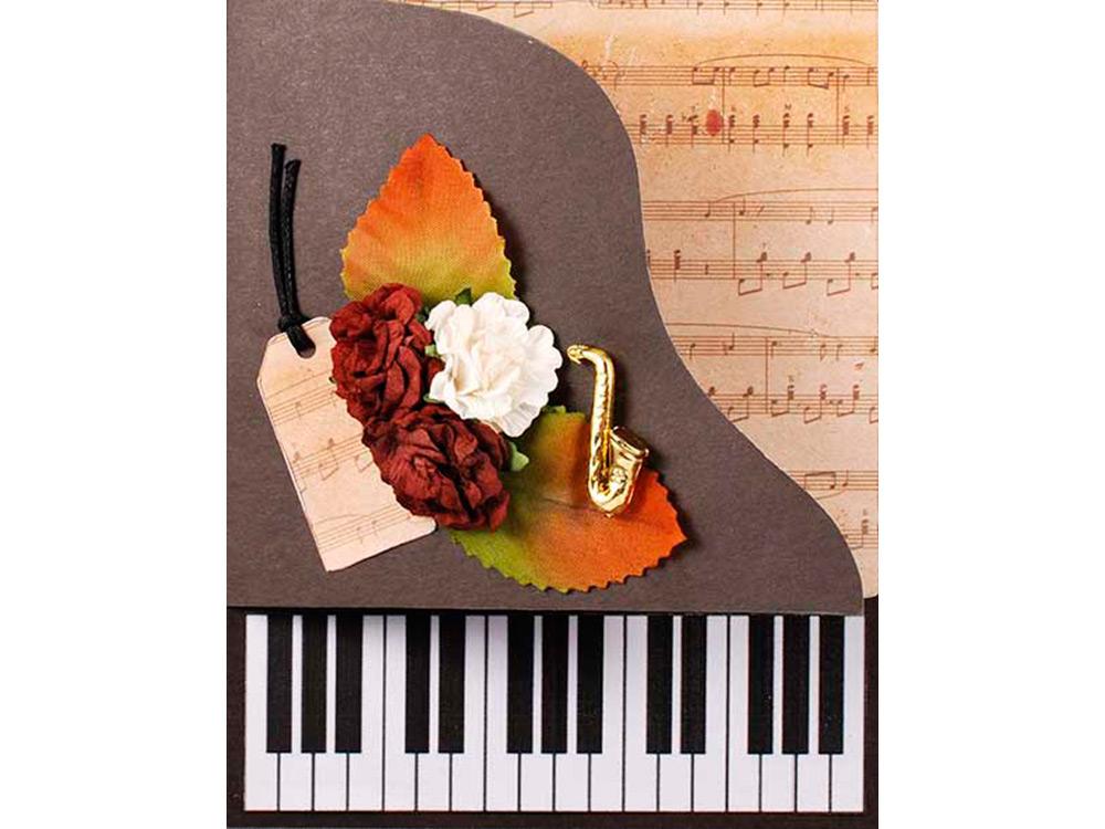 Шаблон для открытки пианино