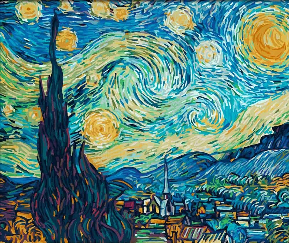 Картина по номерам «Звездная ночь» Ван Гога 9360606 ...