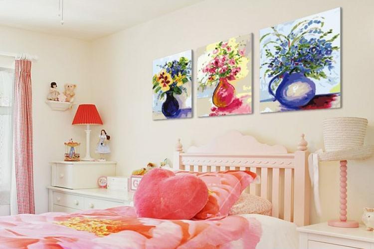 Купить Картина по номерам «Наивность», Menglei (Premium), Китай, 3 шт. 40x50 см, MX3005