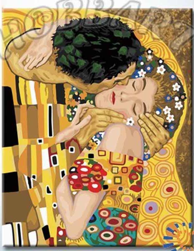 Купить Картина по номерам «Г. Климт. Поцелуй», Hobbart, Россия, DZ4050009-Lite