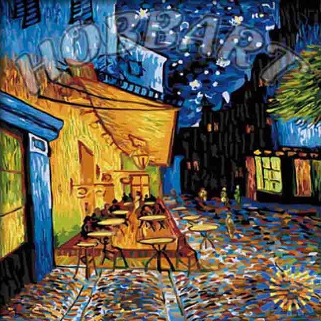 Купить Картина по номерам «Ночное кафе» Ван Гога, Hobbart, Россия, HB4040027-Lite