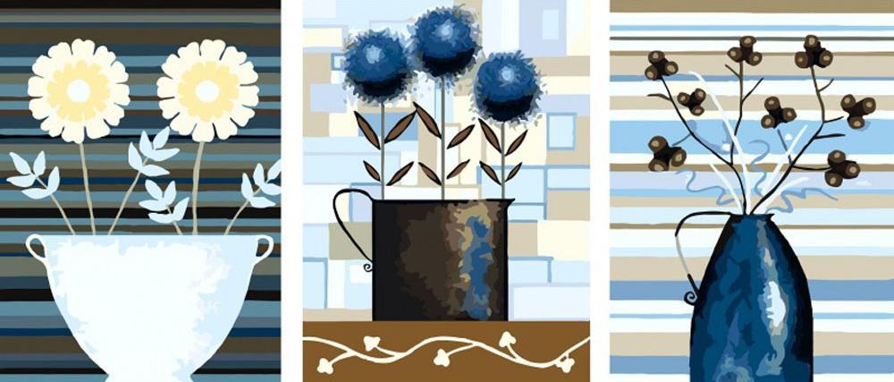 Купить Картина по номерам «Цветочные композиции», Цветной (Standart), Китай, 3 шт. 40x50 см, P044_Z