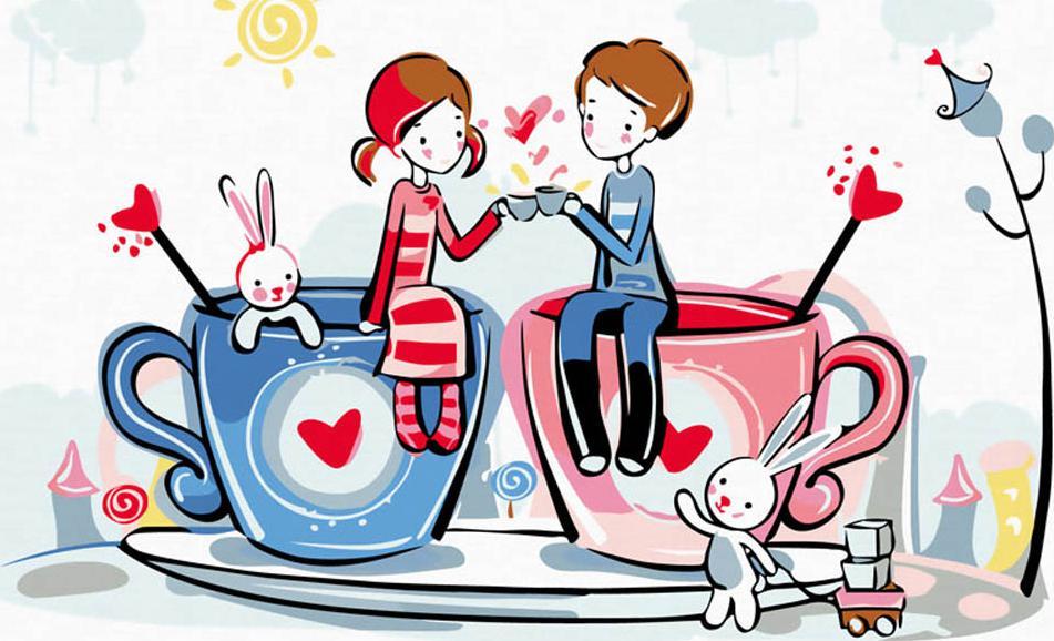 Днем рождения, смешные рисунки о любви