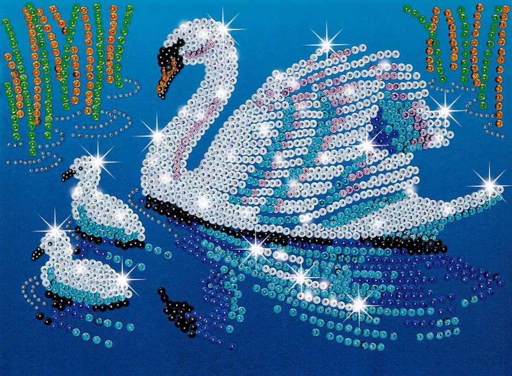 Лебедь картинка блестяшками